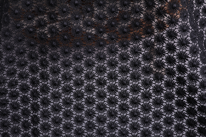 Shiny Poly Chemical Lace Fabric