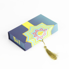 Paper Book Shape Printed Magnetic Box With Tassel