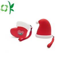 Special Silicone Foldable Bag Christmas Hat Shaped Purse