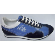 Blue Mens Flat Shoes