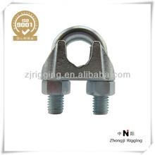 Abrazadera de cuerda de alambre de acero Abrazadera de cable maleable tipo US
