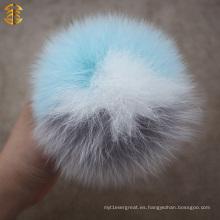 2014 Nueva Actualización Lujoso Natural o Colorido 12cm Fox Fur Pom Poms Mixed Fur Balls
