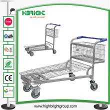 Chariot de chariot à achats de stockage d'entrepôt de 500kg