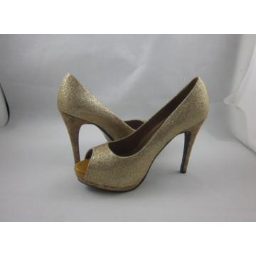 2016 novas mulheres design peep toe sandálias (hyy03-142)