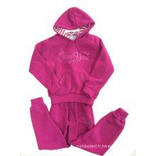 Sweats à capuche Fashion Girl, enfants Hoodies avec fermeture à glissière dans les vêtements pour enfants (SWG-112)