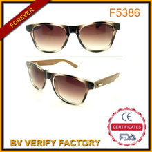UV400 Protection Retro Bamboo and Wooden Temples Sunglass for Summer