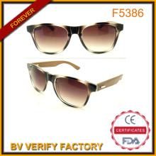 UV400 Proteção retrô bambu e templos de madeira óculos de sol para o verão