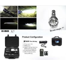 Lampe de poche Hi-max 3000lm 2pcs 18650 batterie interrupteur magnétique lumière de plongée en grotte