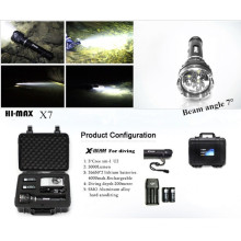 Hi-max diving flashlight 3000lm 2pcs 18650 battery magnetic switch cave dive light