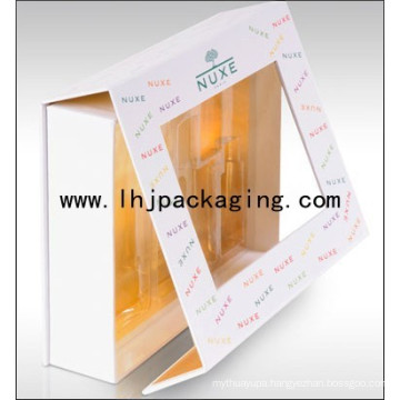 Luxury Folding Cosmetic Paper Box with Plastic Insert Blister
