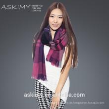 Großhandel Schal Fabrik Warm Plaid Twill reinen Wolle Schal Schal