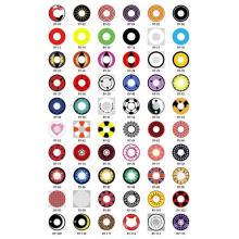 Оптовые продажи модные Наруто косплей Хэллоуин сумасшедшие глаза цветные контактные линзы