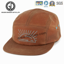 2016 Großhandel Sport Brown 5-Panels Snapback Camper Cap