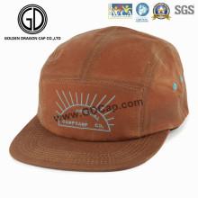 2016 en gros Sports Brown 5-Panneaux Snapback Camper Cap