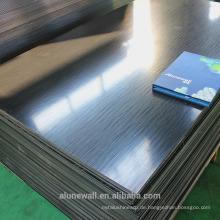 Alufenew schwarz / silber gebürstet Oberfläche Aluminium-Verbundplatte Hersteller für TV Hintergrund / Außenwand Dekoration
