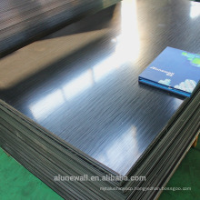 Alunewall black/silver brushed surface Aluminum Composite Panel manufacturer for TV background/exterior wall decoration