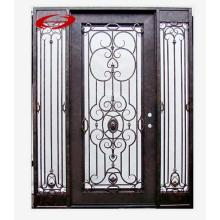 Luxury Anti-Water Wrought Iron Double Front Entry Door