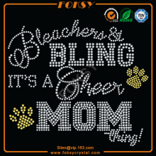 Bling Cheer Mom Hotfix Rhinestone Motiv