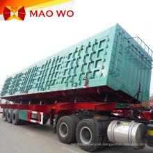 Cilindro hidráulico de alta calidad 60t Remolque de descarga lateral