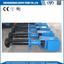 pompe à lisier verticale pour utilisation dans les mines d'or