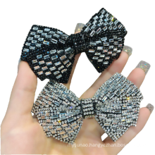 New Rhinestone Hair Barrettes Bow Knot Party Fashion Accessories Hairpin Korean Clip Exquisite Spring Clip
