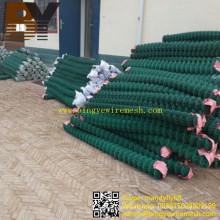 Clôture enduite en métal de clôture de lien de chaîne de diamant de PVC