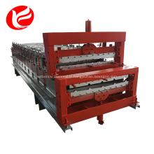 Machine de formage de rouleaux double couche pour tuiles