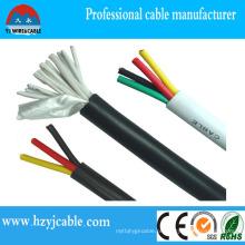 450/750 cabo de controle flexível do condutor de cobre Kvv 12X0.75mm2