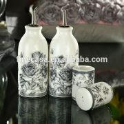 Elegant Fine New Bone China Salt and Pepper and Sugar Set of Nocturne