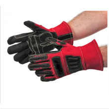 PVC Coated full finger men working anti-shock gloves