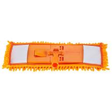 Fregona de microfibra plana de buena calidad con mango para limpieza de pisos / fregona fácil