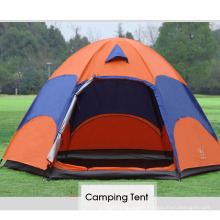 Wholesale outdoor waterproof 5-8 person 2 layers camping tent