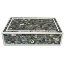 Boîte de rangement à base de nacre Boîte de rangement en plastique