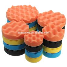 Kit de tampons d'éponge de polissage de polissage pour le tampon de polisseur de voiture