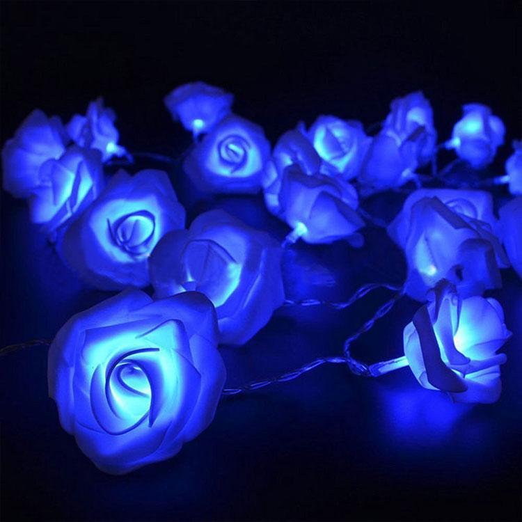 rose flower christmas tree light