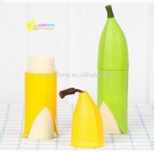 Botella de agua encantadora plástica libre de la forma de la plátano de la fruta de BPA