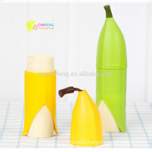BPA free plastic fruit banana shape cup lovely water bottle