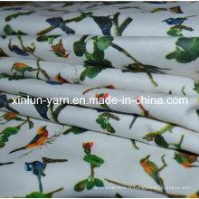 Tissu imprimé extensible uni et extensible en polyester et spandex