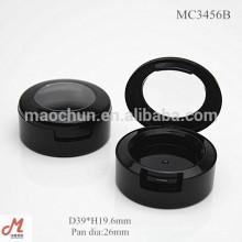MC3456B Schwarze Runde 26mm Pfanne Durchmesser kleine einzelne Lidschatten Verpackung, Lidschatten Pfanne Verpackung Großhandel