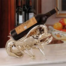 design decorativo decorativo para casa tema animal tema de lagosta único titular de garrafa de vinho