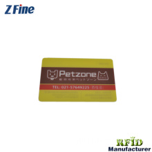 Popular  frosted transparent card with colorful pattern