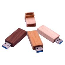 Pen drive USB 3.0 de stick de memória de madeira