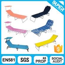 Espreguiçadeira flexível ao ar livre leve dobrável cadeira dobrável cama de praia