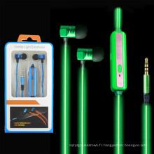 3.5mm Noise Isolating Fluorescent Stereo LED Glow Headphones pour tous les téléphones portables (K-688)