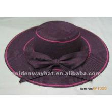 Женская летняя модная шляпа соломенного пляжа