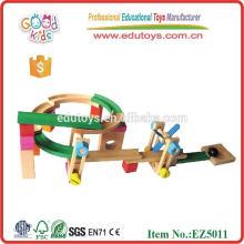 EZ5011 Brinquedos educativos de madeira Mini Train Track para crianças