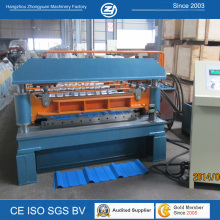 PLC Touch Screen Control Corrugated Metal Roof Roll Forming Machine