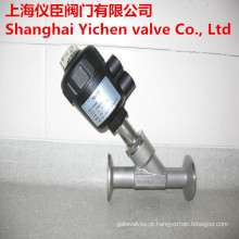 Válvula de ângulo ângulo pneumática assento válvula braçadeira