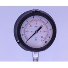 Manómetro de presión de cápsula de seguridad