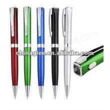 stylo à bille en plastique avec lampe